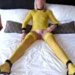 Can't keep those legs closed....wonder why?....