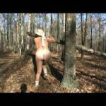 Doing a little naughty posing in the woods