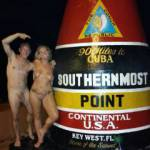 We had our naked pictures taken at the Southern Most Point by some strangers during Fantasy Fest 2015.