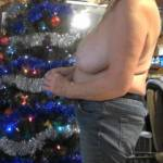 Happy Holidays to all. He talked me into decorating the tree topless Do you like?
