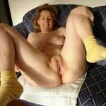 spreading legs after being fucked, she is full of cum...
