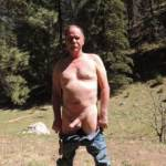 My turn to strip down in Lincoln National Forest, just about there!  Any couples want to play with us?