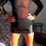 Ready to go clubbing?......nothing like a mini leather skirt to turn some heads.....