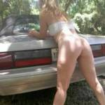 In my yard posing with my foxbody mustang