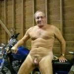 mature cock and bike