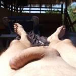me sunbathing naked 1