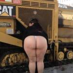 """I would say my """"poor girl"""" doesnt know what shes in for, being bent over on a construction sight like that while my crew is coming back from lunch. But then again, i think thats exactly what my girl likes!"""