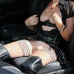 Showing myself off in the car-outdoors for anyone watching