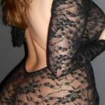 Just my lacy backless number.  My question:  does it fit just right, or not at all?  Let me know what you think ;)