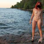 Well, we are off again for a mini vaca up north. This time just hubby and I, last chance for some fun outdoors. Here are some pics from a few years ago, take on the shores of Lake Superior. I'm looking forward to getting naked outdoors again.