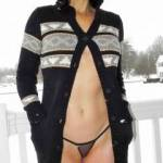 from our snow bunny 2 photo shoot. it was so cold on this day (-10C). all i had to keep my cunny warm were these little fishnet knickers. enjoy. xx