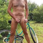 Taking a break from biking in the fields. Do you ever masturbate outside? Where? Let me know.