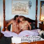 Hubby and i just having a little play in bed!! Any couples like to join us??