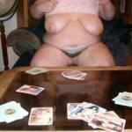 Playing strip poker.