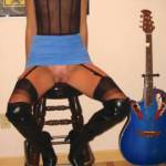 Spreading my legs like a good groupie....wanna shove your instrument in there?....