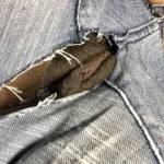 Pussy peeking through my jeans