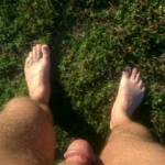 Getting some sun outdoors
