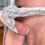 coming out of my undies....  stretching them