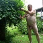 naked gardening.