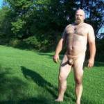 A shot of me wandering the fields near the campground.  Is a great thing being all natural out in nature.
