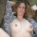 Wife Colleen Relaxing With Her Tits Exposed
