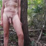 Walking around in a forest in Florida. Love being naked outdoors.