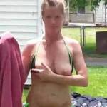 Wife with a little kinda public nakedness