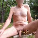 Naked at the cottage. A great place to suck cock.