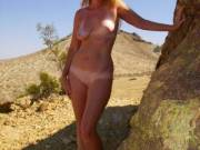 me naked in the desert...again...what can I say