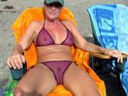 This may be the most see-through bikini I wore on this vacation...