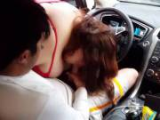 His 1st time get a car bj. It was fun watching. She took all advantage of it too.