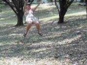I saw the swing hanging from the tree and I just had to get on