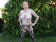 Hi all hubby dared me to walk around the park dressed like this I did it feeling so dam horny comments welcome mature couple