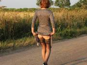 Showing off in a country lane