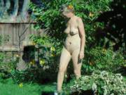 nude women in garden