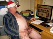 "Santa is ""hard"" at work figuring out who is naughty and nice!"