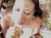 The Mask of Zorra...  2 Cumshots to the face in 3 minutes, no editing.  She's good...