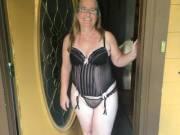 Showing off at door