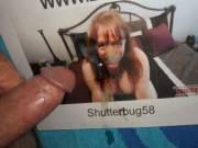 My cum facial tribute for Mrs. Shutterbug58  >:)