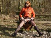 Showing myself off on a woodland walk