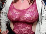 wife in her lingerie top at the bike rally