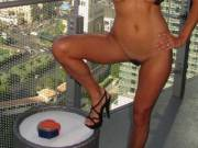 naked pics on balcony with people watching a few balconys over!