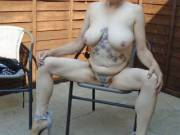 Hi just taking advantage of the hot weather love being naked in the sun comments please mature couple