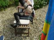 hope you like my kinky boot  they looked good out in the garden comments always welcome mature couple
