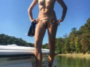 stripping on the boat