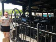 We went to the Blist Hills Victorian Village today.  The Mrs is standing next to a working replica of the worlds first successful steam locomotive built by Richard Trivithick in 1804 25 years before the famous Stevensons rocket.