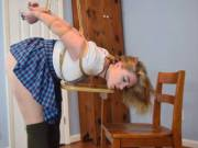 Naughty schoolgirl about to get punished by my dom