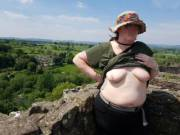 We visited Ludlow Castle today, nice place to get the boobs out.