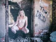 Love exploring abandoned places with this beauty . . . and I love her boldness in stripping down to nothing and posing for me! What do you guys think?