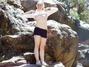 Went on a little Hike in the mountains.....I love going Braless or just going nude lol.
